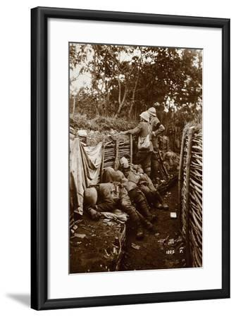 Soldiers in Trenches, World War I, Italy--Framed Giclee Print