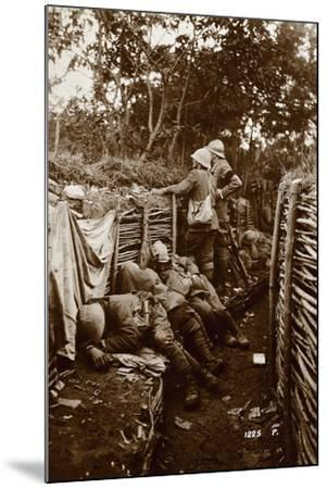 Soldiers in Trenches, World War I, Italy--Mounted Giclee Print