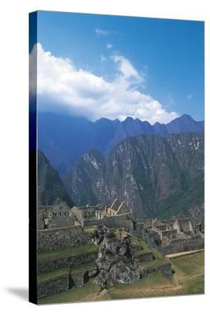 Peru, Urubamba Valley, Incas Ruins of Machu Picchu--Stretched Canvas Print
