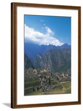 Peru, Urubamba Valley, Incas Ruins of Machu Picchu--Framed Giclee Print