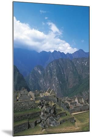 Peru, Urubamba Valley, Incas Ruins of Machu Picchu--Mounted Giclee Print