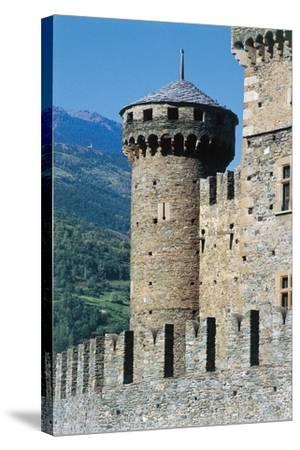 Fenis Castle, Aosta, Valle D'Aosta, Italy--Stretched Canvas Print