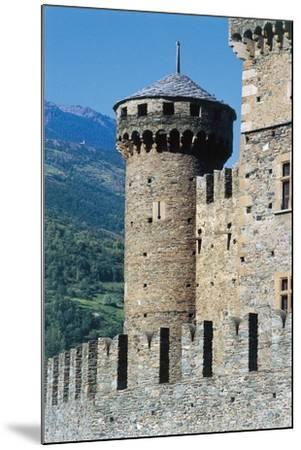 Fenis Castle, Aosta, Valle D'Aosta, Italy--Mounted Giclee Print