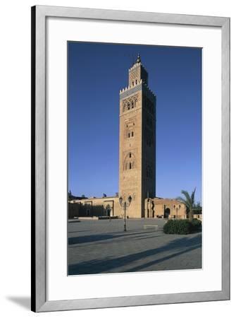 Minaret of Koutoubia Mosque or Kutubiyya Mosque, Marrakech Medina , Marrakech-Tensift-El Haouz--Framed Giclee Print