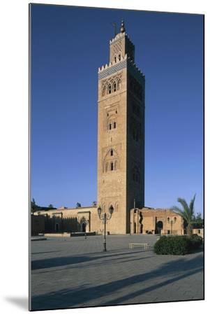 Minaret of Koutoubia Mosque or Kutubiyya Mosque, Marrakech Medina , Marrakech-Tensift-El Haouz--Mounted Giclee Print