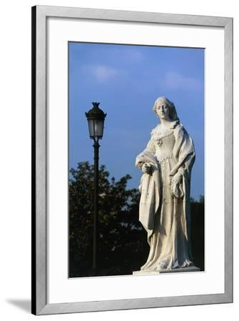 Statue of Woman, Royal Palace and Sabatini Gardens, Madrid, Spain--Framed Giclee Print