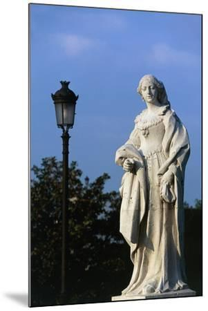 Statue of Woman, Royal Palace and Sabatini Gardens, Madrid, Spain--Mounted Giclee Print