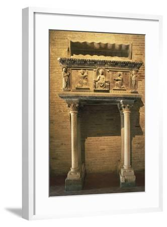 Tomb of Giovanni Visconti Da Oleggio, 1366, Cathedral of the Assumption, Fermo, Marche, Italy--Framed Giclee Print