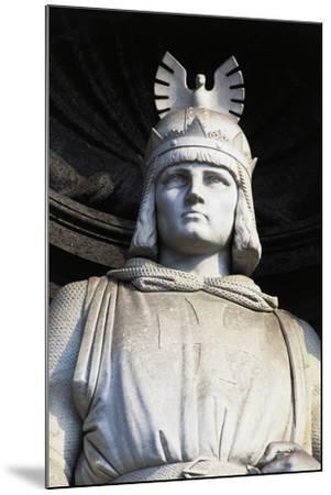 Statue of Roger II, Royal Palace, Naples, Campania, Italy, Detail--Mounted Giclee Print