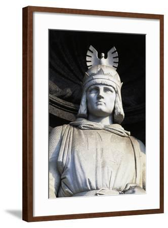 Statue of Roger II, Royal Palace, Naples, Campania, Italy, Detail--Framed Giclee Print