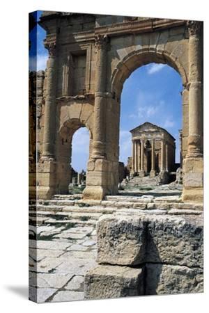 View of Capitolium, Ancient Roman City of Sufetula, Sbeitla, Tunisia--Stretched Canvas Print