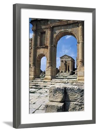 View of Capitolium, Ancient Roman City of Sufetula, Sbeitla, Tunisia--Framed Giclee Print