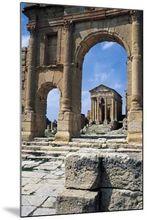 View of Capitolium, Ancient Roman City of Sufetula, Sbeitla, Tunisia--Mounted Giclee Print