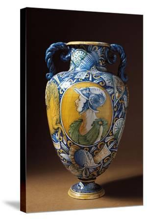 Amphora Decorated with Virile Male Profile, Tuscany, Italy, 16th-17th Century--Stretched Canvas Print