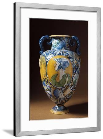 Amphora Decorated with Virile Male Profile, Tuscany, Italy, 16th-17th Century--Framed Giclee Print