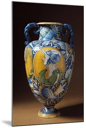 Amphora Decorated with Virile Male Profile, Tuscany, Italy, 16th-17th Century--Mounted Giclee Print
