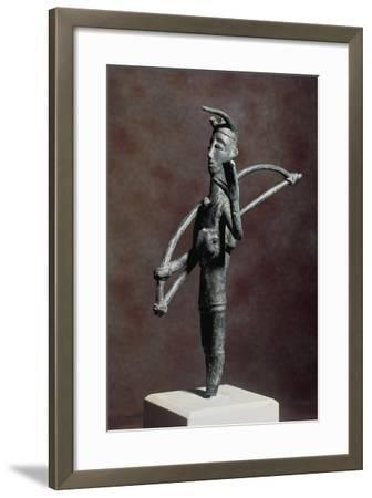 Archer in Prayer with Bow on His Shoulder--Framed Giclee Print