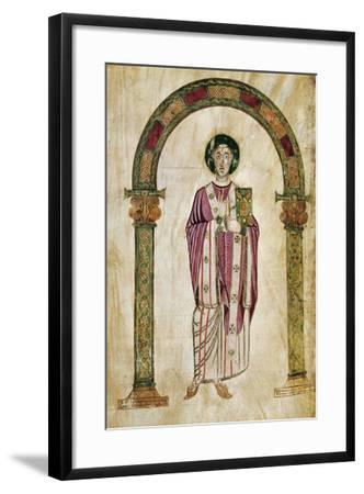 The Deacon Perto, Miniature from the Homilies by Saint Gregory--Framed Giclee Print