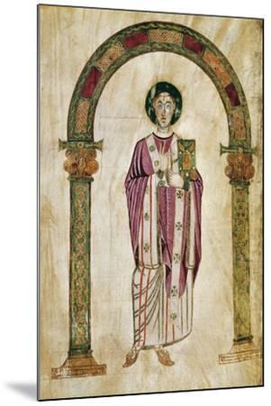 The Deacon Perto, Miniature from the Homilies by Saint Gregory--Mounted Giclee Print
