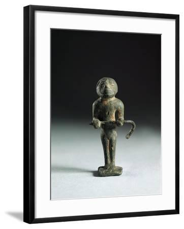 Italy, Rome, Bronze Statuette Depicting an Augure Priest from Roman Forum--Framed Giclee Print