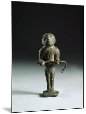 Italy, Rome, Bronze Statuette Depicting an Augure Priest from Roman Forum--Mounted Giclee Print