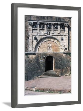 Porta Marzia, Ancient Etruscan Gate Incorporated into Walls of Rocca Paolina, Perugia, Italy--Framed Giclee Print
