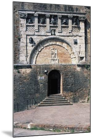 Porta Marzia, Ancient Etruscan Gate Incorporated into Walls of Rocca Paolina, Perugia, Italy--Mounted Giclee Print