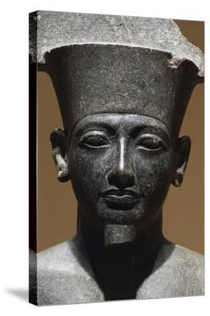 Horemheb, Diorite Statue from Luxor Temple, Egypt, Detail--Stretched Canvas Print