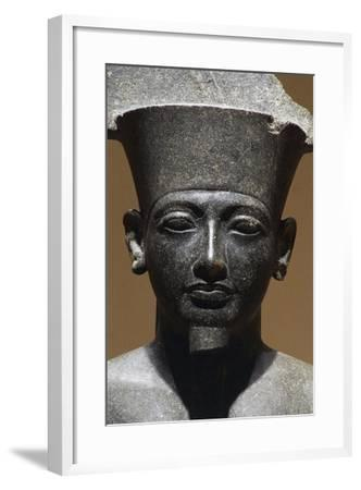 Horemheb, Diorite Statue from Luxor Temple, Egypt, Detail--Framed Giclee Print