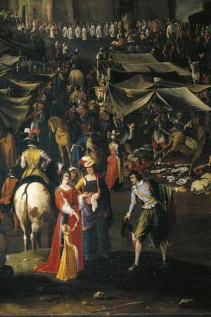 Italy, Florence, Fair of Impruneta, 1618--Stretched Canvas Print
