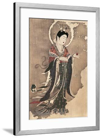 Kichipoten, Buddhist Goddess of Beauty, Painting on Hemp, Japan, Nara Period, 8th Century--Framed Giclee Print