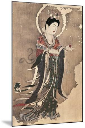 Kichipoten, Buddhist Goddess of Beauty, Painting on Hemp, Japan, Nara Period, 8th Century--Mounted Giclee Print