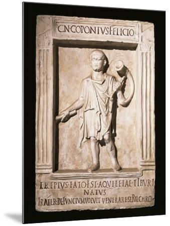Stele of Trumpeter Cneus Coponius Felicio with Horn on Shoulder--Mounted Giclee Print