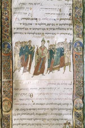 Miniature from the Four Gospels, Greek Manuscript, 12th Century--Stretched Canvas Print