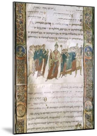 Miniature from the Four Gospels, Greek Manuscript, 12th Century--Mounted Giclee Print