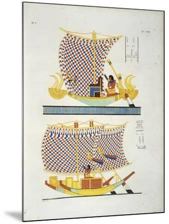 Color Illustration from Book 'Monuments of Egypt and Nubia'--Mounted Giclee Print