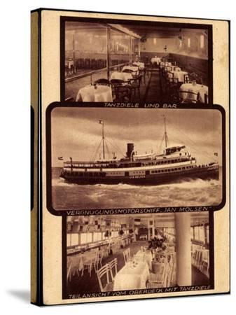 Motorschiff Jan Molsen, Tanzdiele, Bar, Oberdeck--Stretched Canvas Print