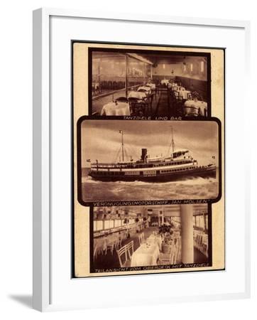 Motorschiff Jan Molsen, Tanzdiele, Bar, Oberdeck--Framed Giclee Print