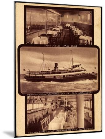 Motorschiff Jan Molsen, Tanzdiele, Bar, Oberdeck--Mounted Giclee Print
