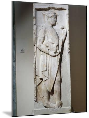 Stele with Relief Depicting Hermes, from Larisa, Greece--Mounted Giclee Print