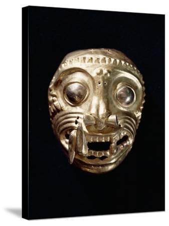 Ecuador, Pre-Columbian Civilization, Goldsmithery, Golden Pectoral in Shape of Feline--Stretched Canvas Print