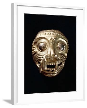 Ecuador, Pre-Columbian Civilization, Goldsmithery, Golden Pectoral in Shape of Feline--Framed Giclee Print