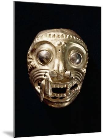 Ecuador, Pre-Columbian Civilization, Goldsmithery, Golden Pectoral in Shape of Feline--Mounted Giclee Print
