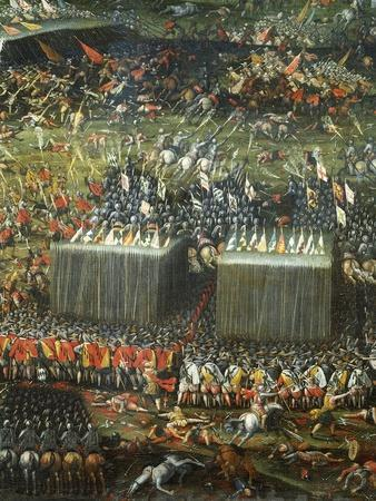 Defeat and Flight of Hungarian and Bohemian Armies Defeated by Imperial Army--Framed Giclee Print