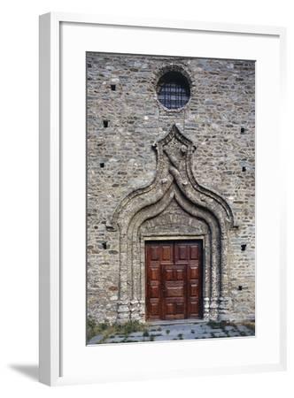 Door of the Church of St Martin, Arnad, Valle D'Aosta, Italy--Framed Giclee Print