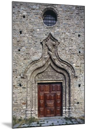 Door of the Church of St Martin, Arnad, Valle D'Aosta, Italy--Mounted Giclee Print