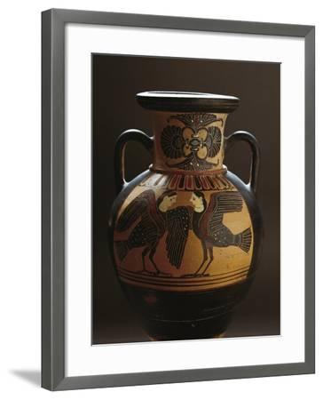 Attic Vase Depicting Two Harpies, Black-Figure Pottery, 5th Century BC--Framed Giclee Print