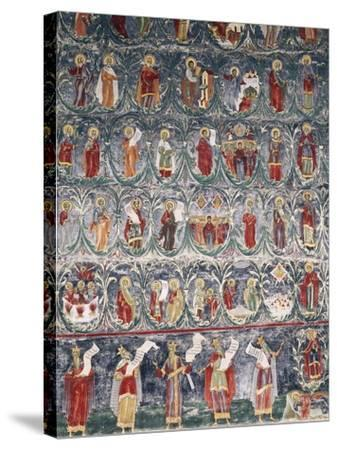 Romania, Sucevita Monastery, Tree of Jesse, Detail from Cycle of Frescoes--Stretched Canvas Print