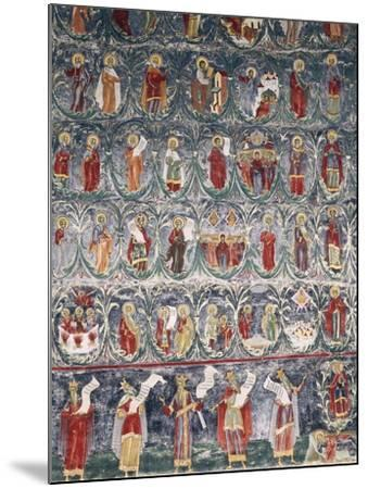 Romania, Sucevita Monastery, Tree of Jesse, Detail from Cycle of Frescoes--Mounted Giclee Print