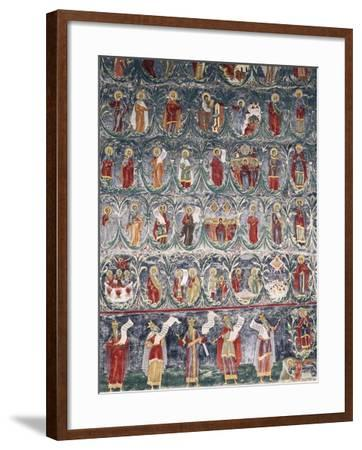 Romania, Sucevita Monastery, Tree of Jesse, Detail from Cycle of Frescoes--Framed Giclee Print